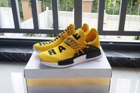2018 envío gratis barato de la gota NMD HUMAN RACE Pharrell Williams x para mujer para hombre Top Classic Fashion Running Shoes Sports Sneakers Size36-47