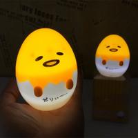 luzes de ovo conduzidas venda por atacado-Anime Gudetama Egg Light Up Crianças Brinquedo Preguiçoso Gema de Ovo Gudetama Sono LED Night Light Cute Decor Lamp