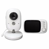 tragbarer drahtloser monitor groihandel-Sicherheit 3.2 Zoll 2.4G drahtloser Electronica Baby-Kamera 2 Weisenaudio 5M IR-Temperatur Schlaflied-tragbarer Baby-Monitor