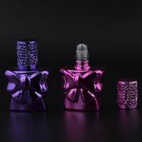 косметика для волос оптовых-Мода 13 мл Флакон духов с металлическим рулоном на бабочке в форме путешествия Набор бутылок для образцов контейнеров для косметики F20172183