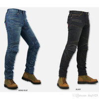 Wholesale Motorcycle Pants Komine - Fashion Komine PK718 Motorcycle Trousers Kevlar Denim Jeans Motocross Moto Pants Jean With Protector Pad S-3XL free shipping