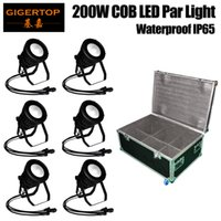 Wholesale Exterior Lighting Auto - Gigertop 6in1 Flightcase Pack 200W COB LED Projection Lamp Die Casting Aluminum Outdoor Buildings Exterior Landscape Lighting TP-P108