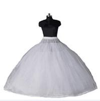 vestidos de crinolina al por mayor-2018 recién llegado vestido de bola 8 capas de tul vestidos de boda atractivos enaguas sin aros de lujo vestidos de quinceañera con falda larga crinolina