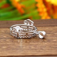 Pendant Settings oval mount - Vintage Filigree Sterling Silver Pendant14x18mm Oval Cabochon Semi Mount Fine Silver Pendant Setting