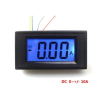 Wholesale Display Digital Panel Ammeter - Digital Ammeter LCD Display Panel DC -10A To 10A Black Shell Blue Backlight