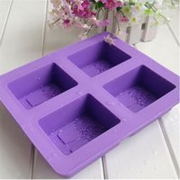 Hot Sale Haute qualité 4 Cavité Arbre de vie One Leaf Oval Silicone Soap Mould Handmade Soap Three Design