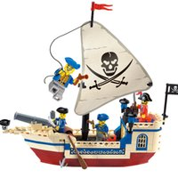 Wholesale Building Blocks Pirate Ship - 304 Pirates Of The Caribbean Brick Bounty Pirate Ship Building Blocks Christmas Gifts For Kids Pink Enchanter