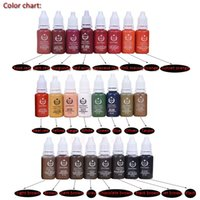 Wholesale Digital Permanent Makeup Tattoo - Top Quality Biotouch Lip Tattoo Pigment Ink 12pcs Lot for Digital Tattoo Makeup Machine with Permanent Feature Free Shipping