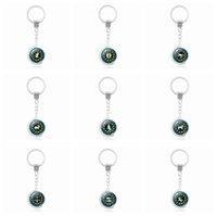 Wholesale Globe Rings - Brand new Rotary Globe Twelve Seasons Time Gemstone Keychain Pendant Alloy Key Ring KR224 Keychains mix order 20 pieces a lot