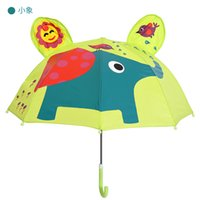 Wholesale Princess Sofia Fabric - Children Cartoon Umbrella Elephant Monkey Bees Lion Frog Whales Sofia Princess Student Umbrella Long Handle Sun Rain Umbrella