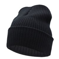 Wholesale Wool Ski Hats For Men - Beanies Winter Hat For Men Knitted Hat Women Winter Hats For Women Men Knit Caps Blank Casual Wool Warm Flat Bonnet Beanie