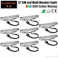 TIPTOP 8XLOT IP65 Bewertung Wasserdicht RGB Led Wall Washer Light 50cm Lange 12 * 3W High Power Independent Mode / Master / Slave Modus / DMX