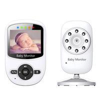 Wholesale Mini Pan Tilt Zoom Camera - Digital Baby Monitor mini camera baby sitter 2.4inch LCD IR Night Vision Intercom Lullabies Temperature Monitor Alarm Zoom Pan Tilt