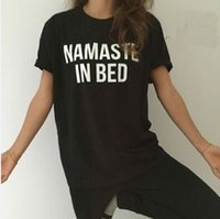 Wholesale Tshirt For Lovers - NAMASTE IN BED Letters Casual T-shirts For Men Hip Hop street fashion lovers men and women T-shirts Brand Tees Tshirt homme