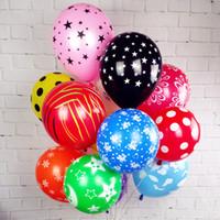 Wholesale Balloons Latex Printing - Big Latex Romantic Round balloons Decahedron printed Wedding Happy Birthday Party Celebration Decoration Marriage Globo 100pcs
