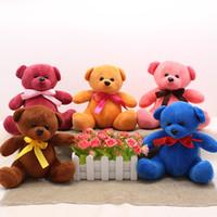 Wholesale Mini Bear Plush Toys - 20cm high quality lovely mini teddy bear plush toys wedding throwing dolls soft short plush toys stuffed animals toys wholesale dolls