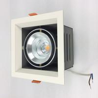 ingrosso scatola di ferro in alluminio-Regolazione 9W 15W 25W 35W LED Grille Luce quadrata per installazione a soffitto Alloggiamento in ferro Scatola driver anima in alluminio collegata