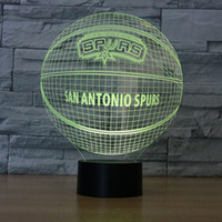 No spur switch - Spurs Basketball D Table Lamp Optical Illusion Bulbing Night Light Colors Changing San Antinio Spurs