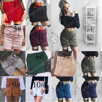 Wholesale Girls Leather Mini Skirts - Fashion Women Girls Faux Suede Leather Fur BodyCon Slim Mini Skirts Above Knee Dresses High Waist Free Shipping