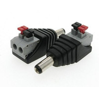 Wholesale Jack Dc Usb Adapter - Hot DC Male Female connector 2.1*5.5mm DC Power Jack Adapter Plug Connector for single color led strip