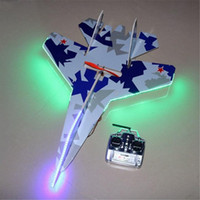 Wholesale Model Kit Jet - Flashing Led Jets Kt Foam Rc Plane SU 27 Model Electric Remote Control Airplanes Toys Hot Sale Drop Shipping