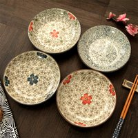 Wholesale 4 Kinds of High Quality Under Glazed Plate Dish Ceramic Dinner Dishes Plates Dinnerware inch inch JSF Dishes
