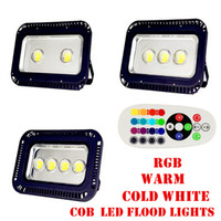 Wholesale 200W W W W W Changeable RGB LED Floodlight Super Bright Outdoor Waterproof LED Flood Light AC V