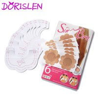 Wholesale Sin Bra Lifting - Sin Bra Adhesive Invisible Breast Lift Up Tape Pads For Women (1set=6pairs) DHL Shipping