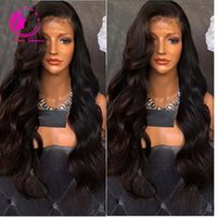 Wholesale Transparent Lace Top - Virgin Malaysian Human Hair Silk Top Lace Front Wig Body Wave Full Lace Human Hair Wig With Baby Hair Glueless Lace Wig For Women