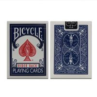 fahrrad-karten groihandel-Wholesale- Bicycle Poker 1 PC-Preis Blau oder Rot Fahrrad Regulär Spielkarten Rider Back 808Standard Sealed Decks Bicycle Poker GYH