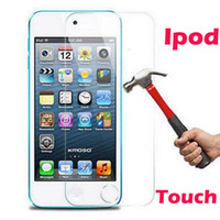 Wholesale Tempered Glass Screen Protector For iPod Touch touch4 touch5 touch6 H Hard mm Ultra Thin D Arc Toughened Film