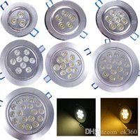 Wholesale Led Downlights 7w - Cree LED Downlight Ceiling 3W 4W 5W 7W 9W 12W 15W Recessed LED light Downlights Dimmable LED down Lights Lamps Warm White 110-240V