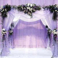 Wholesale Heart Shaped Arches - Wholesale- Size 48CM*4.5M Wedding Decoration Organza Silk Flower Heart-shaped Arches Sheer Crystal Organza Fabric Flower Door Free shippi