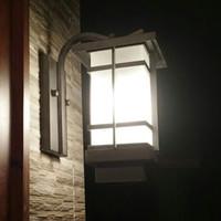 luz chinesa impermeável venda por atacado-New pátio chinês iluminação Clássico Ao Ar Livre Pátio Lâmpada de Parede Lâmpada Jardim Japonês Ao Ar Livre À Prova D 'Água Da Parede China vento luzes LED