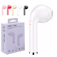 Wholesale Ear Buds Bluetooth Headsets - HBQ I7 Bluetooth Earphone Mini Bluetooth Headphones Single Wireless Earphone Stereo Music Ear Buds With Mic Blutooth Headset