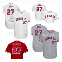 Wholesale Big Tall Men New - New Mike Trout Los Angeles Angels of Anaheim Baseball Jersey 2017 Stars and Stripes Majestic Scarlet Alternate Big & Tall Cool Base Jersey