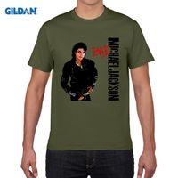 Wholesale Michael Jackson Tshirt Man - Michael Jackson Men's T Shirt Cotton Boy Short Sleeve Male Round Neck Men Rock Tshirt Garment Guy 2017 Casual T-shirt For Man