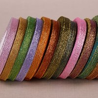 Wholesale M Edge Light - 10mm Colors Glitter Metallic Ribbon Jewelry Bridal Decor Edge Gift Package ( 1 Roll 25yds = 22 m )