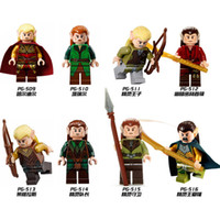 Wholesale Rings Elves - PG8027 The Lord Of The Ring 8pcs set Hobbit Figures Haldir Terill Elf Prince DIY Figure Lepin Compatible Children Toys