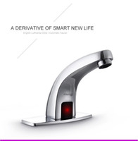 Wholesale Hot Cold Water Sensors - Automatic sensor tap infrared Sensor water saving Faucets Inductive Kitchen bathroom cold water tap or cold and hot mixer tap