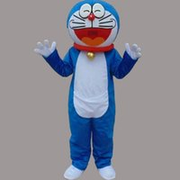 Wholesale Cute Birthday Doraemon - Cute Doraemon Adult Size Mascot Jingle Cat Costume Fancy Birthday Party Dress Halloween Carnivals Costumes With High Quality