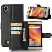Wholesale Zte Blade Leather White - Leather Case For ZTE Blade X3 Blade D2 Blade T620 Magnetic Case For ZTE X3 Filp Cover Phone Bag&Case