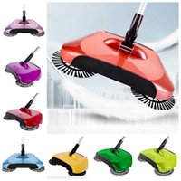 Tipos De Hogar Baratos-Barredora de mano Barredora de pisos Magic Barroom Máquina de barrido de acero inoxidable Push Type Household Sweeper Dustpan Set Limpieza doméstica SF30