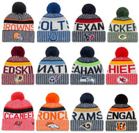 Wholesale Rugby Popular - Newest winter Beanies Knitted Hats All Teams baseball football basketball beanies sports team Women Men popular fashion winter hat