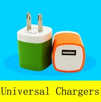 Wholesale Galaxy Tablets - Metal Dual USB wall US plug 1A 1AC Power Adapter Wall Charger Plug 1 port for samsung galaxy note LG tablet ipad