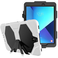 Wholesale Galaxy Tablet Waterproof Case - For Samsung Galaxy Tab A A6 10.1 Not T580 T585 Cover Tablet Heavy Duty Rugged Impact Hybrid Case Kickstand Protective Cover