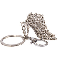 Wholesale Dancing Women Ornament - 20pcs lot High-heeled Shoe Shaped Keychain Cute Ornaments Arts and Crafts Key Ring for Girl Women