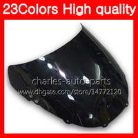 Wholesale Motorcycle 1995 - 23Colors Motorcycle Windscreen For HONDA CBR250RR 95 96 97 98 99 MC22 CBR 250RR 1995 1996 1997 98 1999 Chrome Black Clear Smoke Windshield