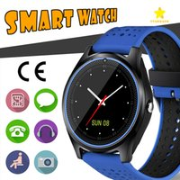 Wholesale Gps Camera Record - V9 Smart Watch Android Samsung Smart Watches SIM Intelligent Mobile Phone Watch Can Record the Sleep State Smart Watch with Package