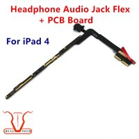 Wholesale Iphone 3g Audio Cable - Headphone Audio Jack Flex Cable with PCB Board For iPad 4 4th Gen Replacement Spare Parts Wifi and 3G Version DHL Free Shipping